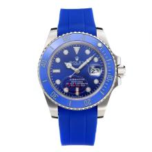 Rolex Submariner Automatic Ceramic Bezel with Blue Dial Rubber Strap