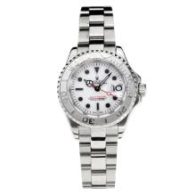 Rolex Yachtmaster Super Luminous Swiss ETA 2671 Automatic Movement with White Dial S/S-Sapphire Glass