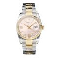 Rolex Datejust Swiss Cal 3135 Movement Two Tone with Super Luminous Pink Dial Sapphire Glass-1