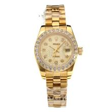 Rolex Datejust Automatic Full Yellow Gold Diamond Markers with Computer Dial Sapphire Glass