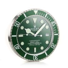 Rolex Submariner Wall Clock Green Bezel with Green Dial