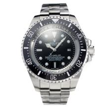 Rolex Sea Dweller Automatic with Black Dial S/S Same Chassis as Swiss Version-Oversized Version