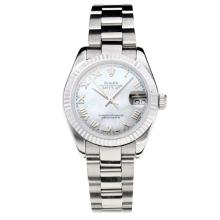 Rolex Datejust Swiss ETA 2355 Automatic Movement with White Dial S/S-Sapphire Glass