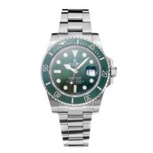 Rolex Submariner Swiss Cal 3135 Automatic Movement Green Bezel with Green Dial S/S-Sapphire Glass