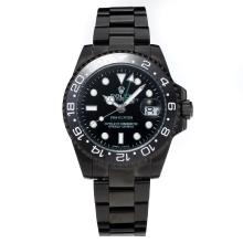 Rolex GMT-Master II Automatic Ceramic Bezel Full PVD with Black Dial(Gift Box is Included)
