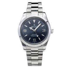 Rolex Explorer Automatic with Dark Blue Dial S/S Oversized Version