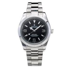 Rolex Explorer Automatic with Black Dial S/S Oversized Version