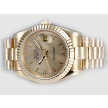 Rolex Datejust Automatic Full Gold with Golden Dial(Gift Box is Included)