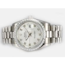 Rolex Datejust Automatic Diamond Marking and Bezel with Silver Dial