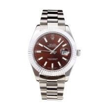 Rolex Date Just II Swiss ETA 2836 Movement with Brown Dial S/S-Sapphire Glass-1