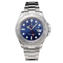 Rolex Yachymaster Automatic with Blue Dial S/S-Same Chassis as the Swiss Version