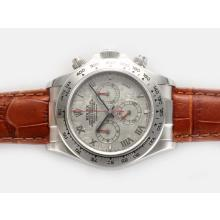 Rolex Daytona Chronograph Swiss Valjoux 7750 Movement with Meteorite Dial