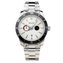 Rolex Automatic Black Bezel with White Dial S/S