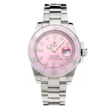 Rolex Submariner Automatic Ceramic Bezel with Pink Dial S/S-Sapphire Glass