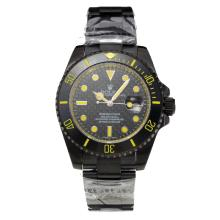 Rolex Submariner Automatic Full PVD Ceramic Bezel with Black Dial-Sapphire Glass