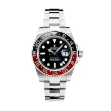 Rolex GMT-Master II Automatic Black/Red Ceramic Bezel Super Luminous with Black Dial S/S-Same Chassis as the Swiss Version
