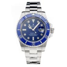 Rolex Submariner Automatic Blue Ceramic Bezel with Blue Dial S/S-Sapphire Glass-Same Chassis as the Swiss Version