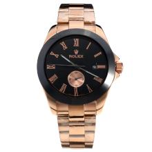 Rolex Automatic Ceramic Bezel Full Rose Gold with Black Dial