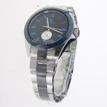 Rolex Automatic Black Ceramic Bezel Blue Markers with Black Dial