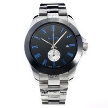 Rolex Automatic Ceramic Bezel Blue Markers with Black Dial S/S