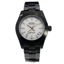 Rolex Milgauss Automatic Full PVD with White Dial-Scissors Style Needles