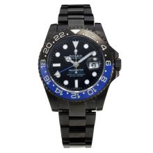 Rolex GMT-Master II Prohunter Swiss ETA 2836 Movement Full PVD Ceramic Bezel with Black Dial