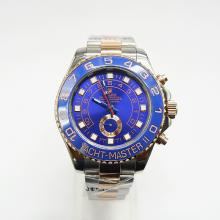 Rolex Yacht-Master II Working GMT Automatic Ceramic Bezel Two Tone with Blue Dial