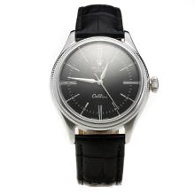 Rolex Cellini Automatic with Black Dial-Leather Strap-3