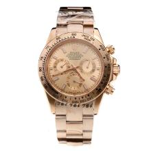 Rolex Daytona Automatic Full Rose Gold with Champagne Dial-Sapphire Glass