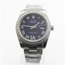 Rolex Datejust Automatic Blue Dial With Diamond Set Bezel-Same Chassis With Swiss Version