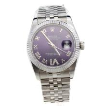 Rolex Datejust Automatic Roman Markers with Blue Dial S/S-Same Chassis as Swiss Version