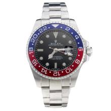 Rolex GMT-Master II Automatic Blue/Red Bezel with Black Dial S/S
