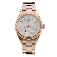 Rolex Cellini Automatic Full Rose Gold with White Radiation Dial