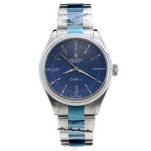 Rolex Cellini Automatic with Blue Dial S/S-1