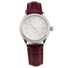 Rolex Cellini White Dial with Purple Leather Strap-Lady Size