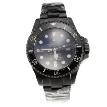 Rolex Sea-Dweller Deepsea Prohunter Swiss ETA 2836 Movement Full PVD Ceramic Bezel with Blue/Black Dial