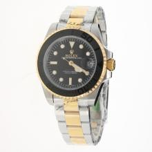 Rolex Yachtmaster Automatic Two Tone with Black Dial-2