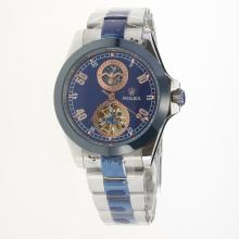 Rolex Automatic Ceramic Bezel with Blue Dial S/S-18K Plated Gold Movement