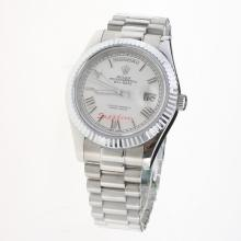 Rolex Day-Date II Automatic Roman Markers with White Dial S/S