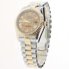 Rolex Datejust Automatic Two Tone with Golden Dial