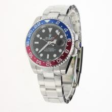 Rolex GMT Master II 2813 Movement Blue/Red Ceramic Bezel with Black Dial S/S