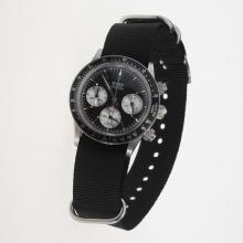 Rolex Daytona Working Chronograph Black Dial with Nylon Strap-Vintage Edition-3