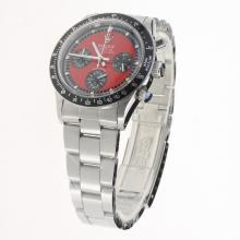 Rolex Daytona Working Chronograph with Red Dial S/S-Vintage Edition-1