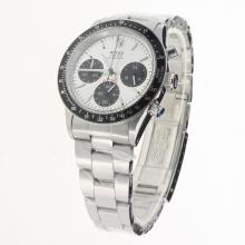 Rolex Daytona Working Chronograph with White Dial S/S-Vintage Edition-5