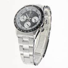 Rolex Daytona Working Chronograph with Black Dial S/S-Vintage Edition-2