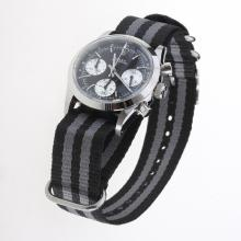 Rolex Daytona Working Chronograph Black Dial with Nylon Strap-Vintage Edition-1