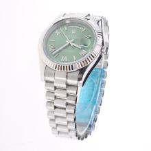 Rolex Day-Date II Automatic Roman/Stick Markers with Green Dial S/S