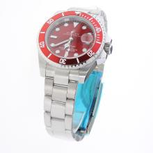 Rolex Submariner Automatic Ceramic Bezel with Red Dial S/S
