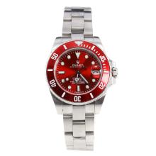 Rolex Submariner Automatic with Red Dial S/S-Lady Size