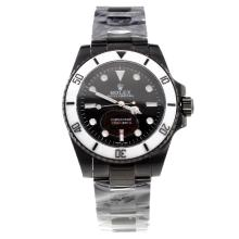 Rolex Submariner Automatic Full PVD Ceramic Bezel with Black Dial